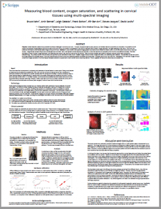 Measuring blood content, oxygen saturation, and scattering in cervical tissues using multi-spectral imaging
